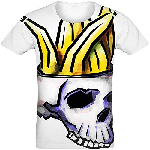 Schädel voller Bananen - Skull Full of Bananas Sublimated T-Shirt Jersey Top for Men & Women All Over Print Unisex Clothing Small -