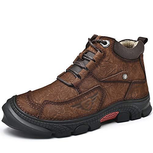 Senza marchio Scarpe da Uomo Comode Scarpe da Uomo Casual Scarpe da Lavoro Antiscivolo Antiscivolo Antiscivolo Calde Scarpe da Trekking All'aperto (Color : A, Size : US7.5/EU38/UK5.5/CN38)