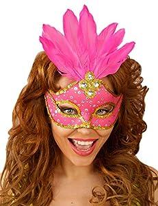 WIDMANN Genérico-Lobo color rosa con plumas mujer