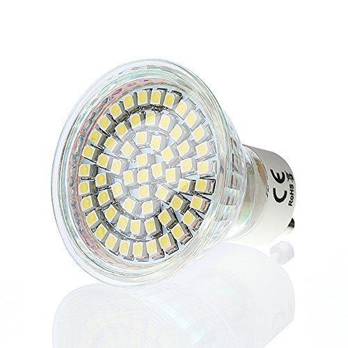 60 SMD GU10 LED Strahler 3W warmweiss