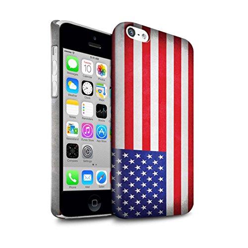STUFF4 Glanz Snap-On Hülle / Case für Apple iPhone X/10 / Griechenland/Griechisch Muster / Flagge Kollektion Amerika/amerikanisch