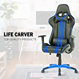 Best X Rocker Chair For Backs - LIFE CARVER Racing Sport High Back Reclining Swivel Review