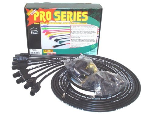 Taylor Cable 70054 8mm Pro Wire Black Spark Plug Wire Set by Taylor Cable