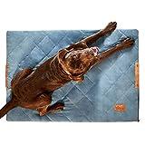PiuPet® Hundedecke gepolstert 70 x 100cm - Hundematte grau - passend auch für große Hunde