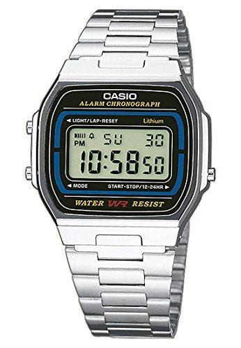 Casio Herren-Armbanduhr CASIO COLLECTION RETRO Digital Quarz One Size, schwarz, silber