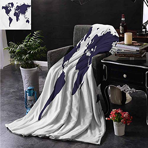 "ZSUO Reisedecke Continents of The World in Regions Lands Global International Winter-Plüsch Microfaser-Stoff, Polyester, Farbe10, 30""x50"" Inch"