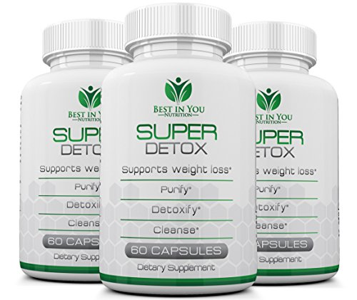 Super Detox Pill - Cleanse & Lose Weight with 100% Pure & Herbal