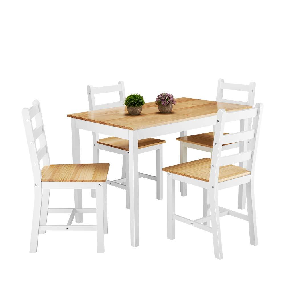Tavolo E Sedie Stile Contemporaneo.Panana Set Di Tavolo Da Pranzo E 4 Sedie In Stile