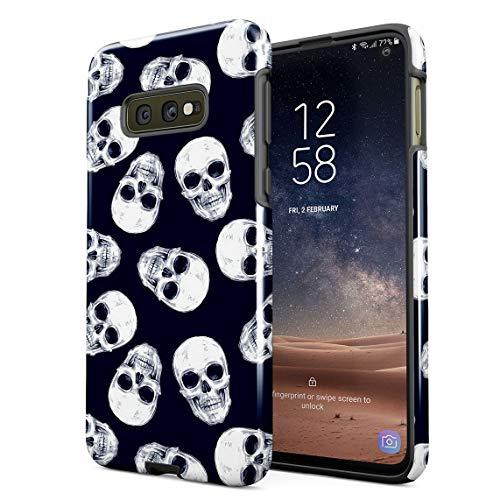 Cover Universe Hüllen für Samsung Galaxy S10e Hülle, Grunge Gothic Skeleton Punk Mini Dead Human Skulls Pattern stoßfest, zweilagig mit Hardcase aus PC + Hülle aus TPU, hybride Case Handyhülle