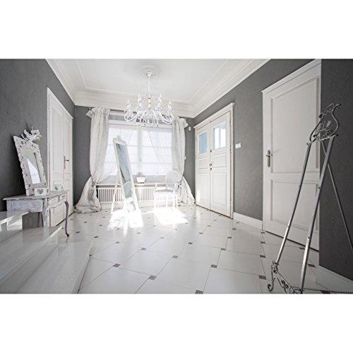 Kronleuchter klassisch Glas Metall weiß und goldfarbig 12-armig Ø82cm - 10