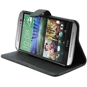 Bingsale Etui Cuir PU pour HTC One 2014 (M8) Coque housse Noir
