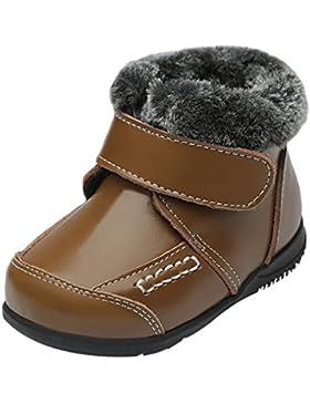Eozy Kinder Jungen Mädchen Leder Stiefel Winter Schneestiefel Warm Boots Schuhe