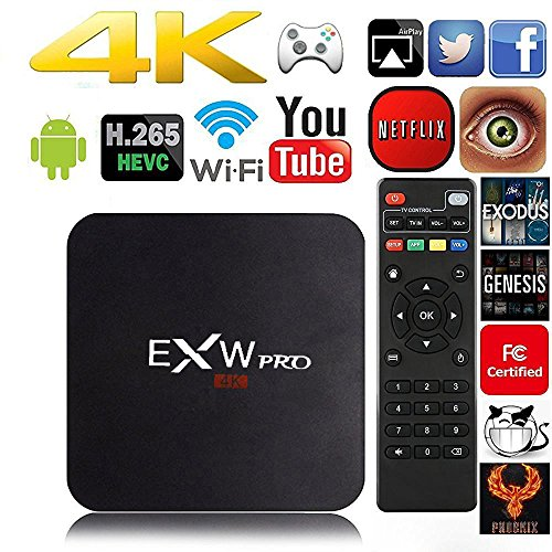 Amlogic EXW® A95 EXW PRO Quad Core Smart TV Box With Xbmc Kodi Pre-installed Android 5.1Lollipop OS TV Box Quad Core 1G/8G 4K Google Streaming Media Players with WiFi HDMI DLNA