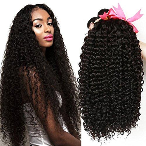 CLAROLAIR Human Hair Curly 3 Bündel Brasilianische Haare Brazilian Curly Hair Bundles Brasilianische Menschliche Haare Brasilianische Kinkys Curly Haare Brazilian Hair Bundles (18 20 22 inch) -