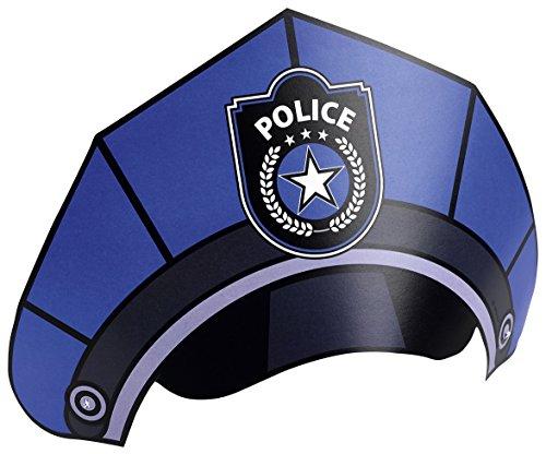 POLIZEI-HÜTE für Party und Geburtstag // AMSCAN // Kindergeburtstag Deko Verkleidung Mottoparty Polizisten Police ()