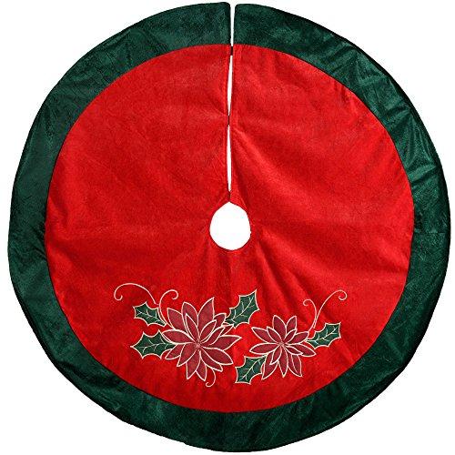 WeRChristmas–Decoración para base de árbol de Navidad con diseño de Pascua, Rojo/verde,...