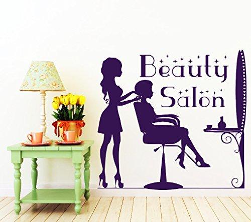Adesivi murali da parrucchiere salone di bellezza in vinile adesivo parrucchiere haircut makeup home decor finestra decalcomanie soggiorno