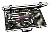 kwb Steckschlüsselsatz 370983 (83-teilig, Umschaltknarren 1/4'und 1/2', Stiftschlüssel, Zündkerzeneinsätze)