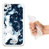 WoowCase Wiko Selfy 4G Hülle, Handyhülle Silikon für [ Wiko Selfy 4G ] Weißer und Blauer Marmor Handytasche Handy Cover Case Schutzhülle Flexible TPU - Transparent