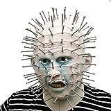 Hellraiser Pinhead con uñas de plástico máscara de terror - Perfecto para Carnaval y Halloween - Disfraz de Adulto - Latex, Unisex Talla única