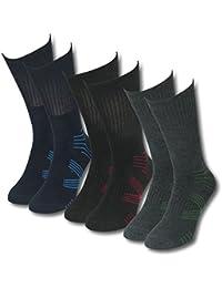 Lavazio® 6 | 12 | 18 | 24 Paar Herren Thermo Socken dick herrlich warm schmale Streifen
