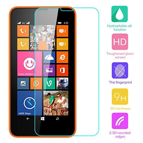 Cuitan Pellicola Protettiva in Vetro Temperato per Nokia N630 / Nokia NK-Lumia 635 630 636, Trasparente HD 0.33mm Spessore 9H Durezza Antigraffio Tempered Glass Pellicola di Protezione dello
