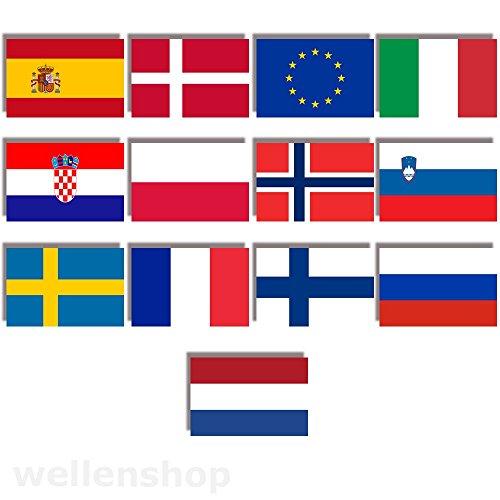 wellenshop Flagge Polen 20 x 30 cm