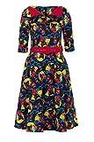 Voodoo Vixen Prairie Kitty Fan Dress (Black)
