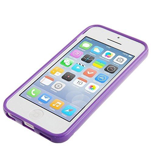 Wkae Case Cover glatte oberfläche gegen kratzer tpu fall für iphone 5 c ( Color : Purple ) Purple