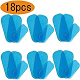 Replacement Gel Pad for Hips Trainer Massage High Conductive Replacement Gel Sheet for ABS Buttocks Trainer, 18pcs