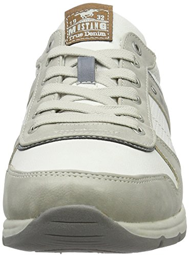 Mustang Herren 4106-303-213 Low-Top Mehrfarbig (213 hellgrau/off-white)
