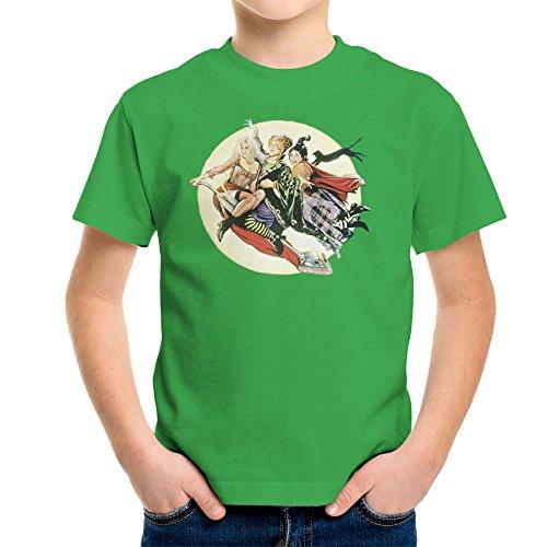 Hocus Pocus Winnifred Sarah Mary Witches Kid's T-Shirt (Sarah Grün Halloween)