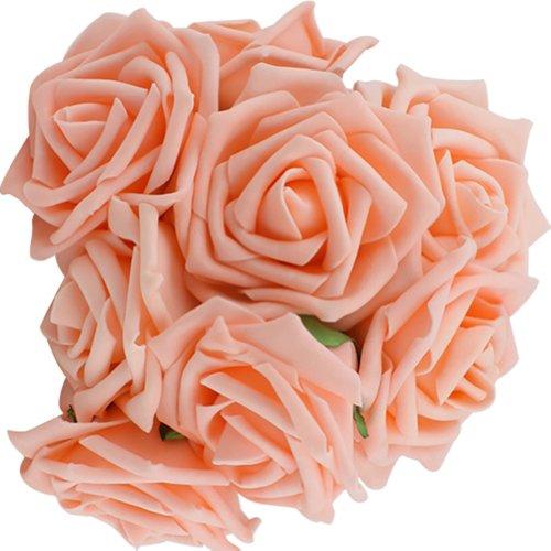 Rosen Brautstrauß Blumenstrauß künstlicher Rosenstrauß Hochzeit Deko künstlicher Rosenstrauß (Champagner)