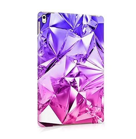 Purple Iridescent Foil Ombre Hard Thin Plastic Tablet Case Cover