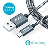 Mivi Nylon Braided Original Type C To Usb A 6 Ft Long And Tough Cable For Oneplus / Oneplus 2/Huawei Honor Magic/ Nexus 5X/ Nexus 6P/Le Eco Le 2/ New Macbook/Chromebook Pixel/Gionee S6/Meizu Pro 5/ Xiaomi Mi 4C/ Xiaomi Mi 5/ Leeco Le 1S/Leeco Le 2/ Le 2 Pro/Leeco Le Max 2/ Nokia N1 Tablet And Many More Type C Devices