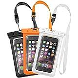 """[3-Pack]Mpow IPX8 Certifié Pochette Étanche Housse Boîtier/ Etui/Housse/CoqueÉtanche Universal(6"""")Transparent Touch Sensible et Séchage Rapide pour iPhone 7/iPhone 6/6S/6S Plus, SE/5S, Samsung S7, S6"""