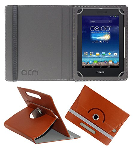Acm Rotating 360° Leather Flip Case For Asus Fonepad 7 Me175cg Dual Sim Tablet Cover Stand Brown  available at amazon for Rs.149