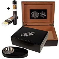 Black Finish Humidor-Set V- 200 + Habanos Specialist Set