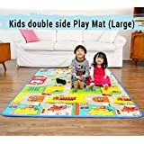 Techhark Anti Skid, Picnic School Waterproof Double Sided Play Mat for Kids , Large Size 120 x 150 cm, Assorted Colour and Pattern