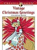 Vintage Christmas Greetings Adult Coloring Book