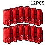 12pcs Petos de Entrenamiento Petos de Fútbol para Adultos ( Color : Rojo )