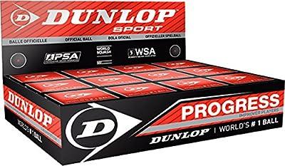 Dunlop deportes progreso acrílicos jugadores de pelotas de squash (caja de 12