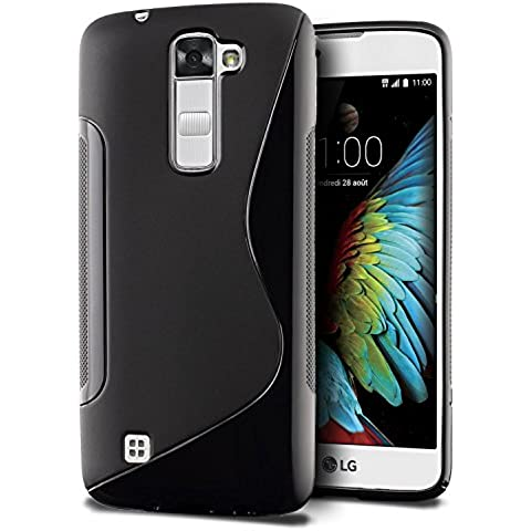 Funda LG K10, SLEO Slim Fit TPU Carcasa de Parachoques Case Traslúcido Suave con Absorción de Impactos y Resistente a los Arañazos para LG K10 -