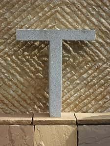T - Buchstabe aus echtem Granit 40 cm hoch - Für Ihre Firma / Hotel / Gastronomie oder zu Hause