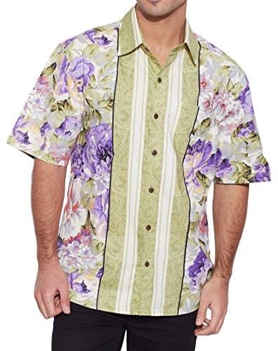 ShalinIndia hommes de plage en coton imprimé Shirt manches demi avant Pocket Multi_65