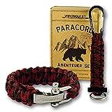 Visionquest Outdoor & Survival Paracord Geschenkset | Armband mit Edelstahlverschluss | Schlüsselanhänger mit Feuerstahl | Ebook & Zubehör