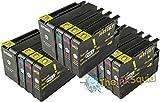 The Ink Squid 3 Sets von Hp950Xl und Hp951Xl dreifarbig und schwarz - hohe Kapazität - Tintenpatrone kompatibel mit Hp vonficejet Pro 8100 8600 8600 Plus und 8600 Premium