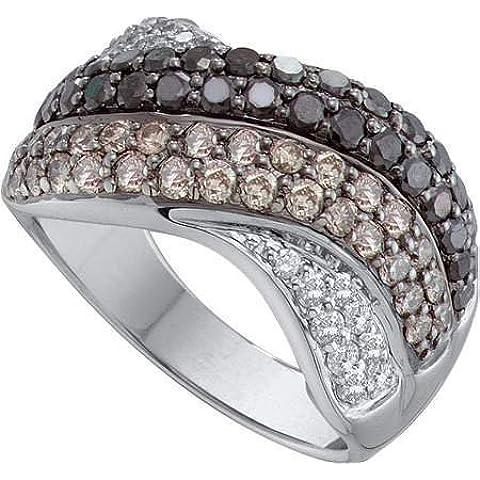 Diamond Band 1.75Ctw Cognac diamante moda donna Band r40947/W Dimensioni o