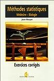 Méthodes statistiques, exercices corrigés