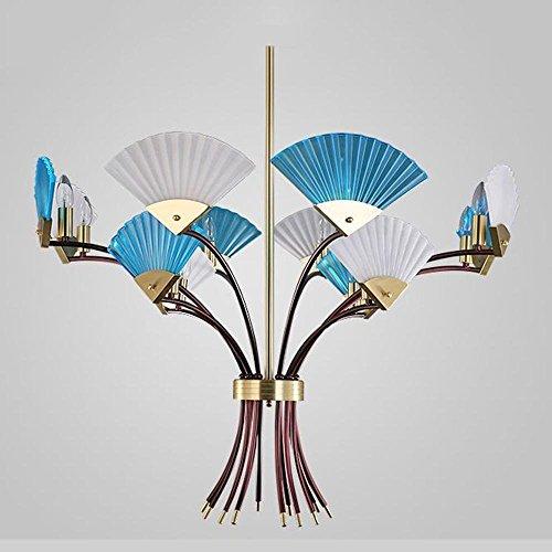 GBYZHMH Postmodernen Mode kreativ Glas Ventilator Kronleuchter Persönlichkeit Restaurant Wohnzimmer Schlafzimmer Restaurant Engineering Dekoration Lampen Dekoration Lampen - Badezimmer-ventilator-lichtschalter